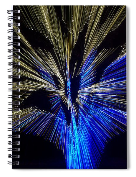 Tree Burst Of Blue And Yellow Spiral Notebook