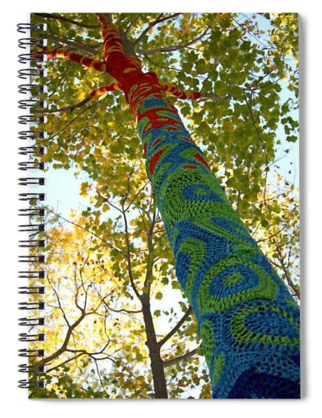 Tree Crochet Spiral Notebook