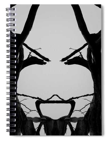 Tree Face I Bw Sq Spiral Notebook