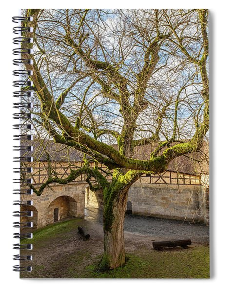 Tree In The Courtyard Spiral Notebook