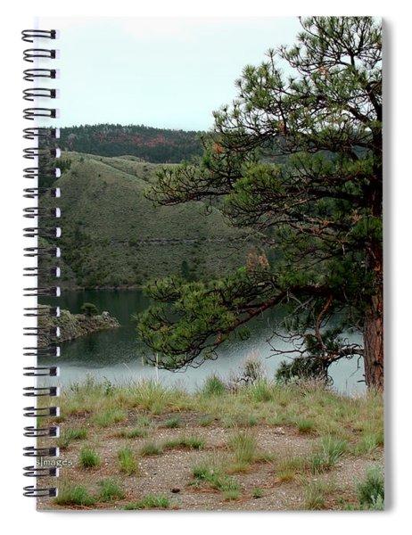 Tree On Missouri River Bluff Spiral Notebook
