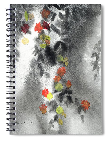 Tree Shadows And Fall Leaves Spiral Notebook