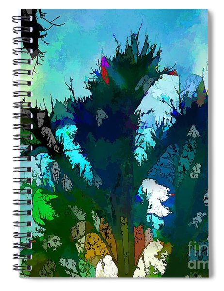 Tree Spirit Abstract Digital Painting Spiral Notebook