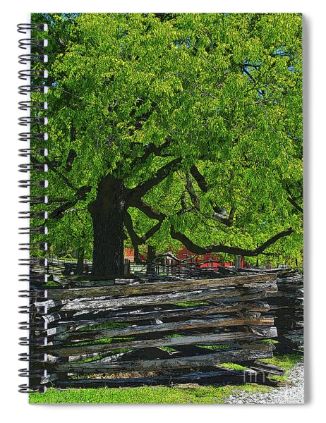 Tree With Colonial Fence Spiral Notebook
