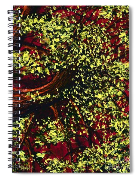 Tree With Red Sky Spiral Notebook