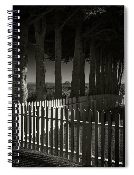 Trees And Pickets Spiral Notebook