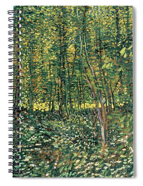 Trees And Undergrowth Spiral Notebook