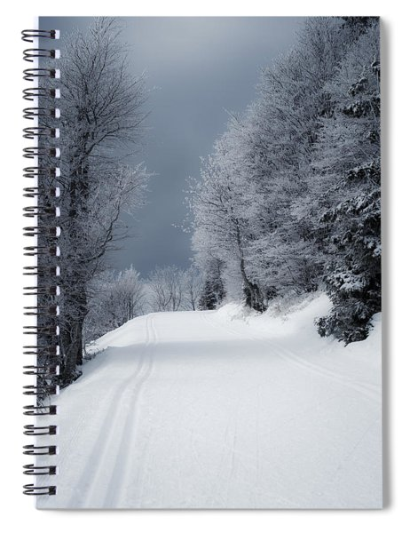 Trees Hills And Snow Spiral Notebook