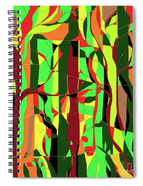 Trees In The Garden Spiral Notebook