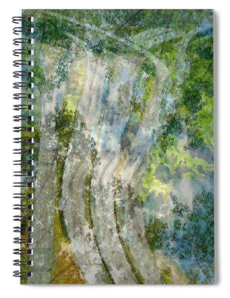 Trees Over Highway Spiral Notebook