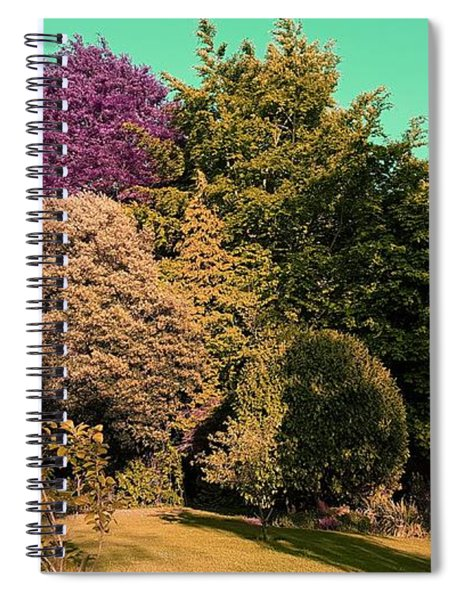 Treescape In Amber Greens Spiral Notebook