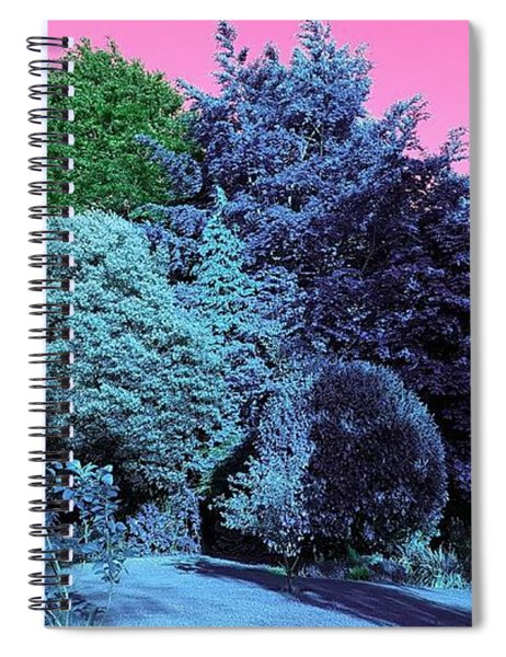 Treescape In Electric Blues Spiral Notebook
