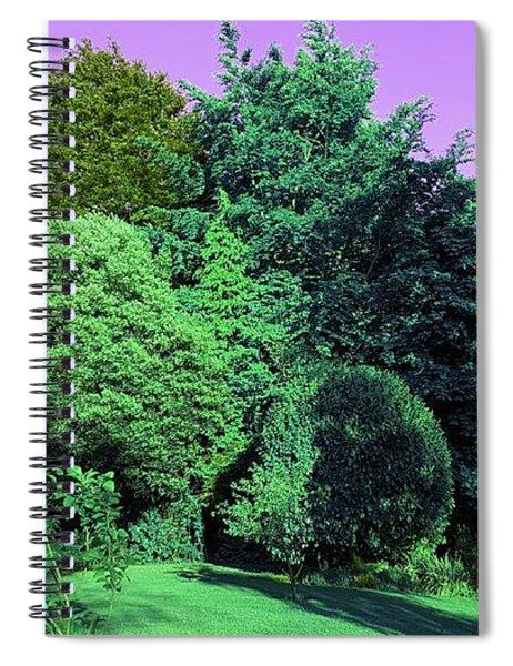 Treescape In Emerald Greens Spiral Notebook