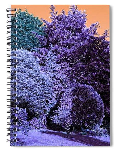 Treescape In Indigo Mix Spiral Notebook