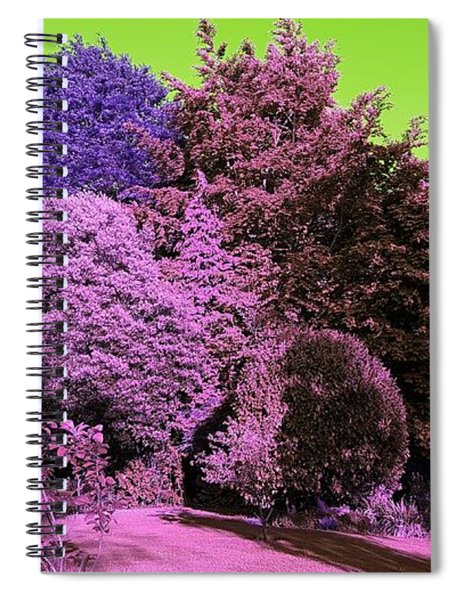 Treescape In Pink Mix Spiral Notebook