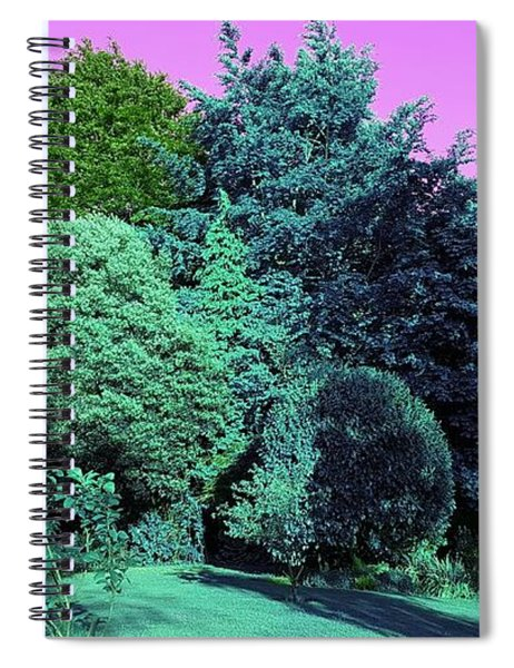 Treescape In Teal Greens Spiral Notebook