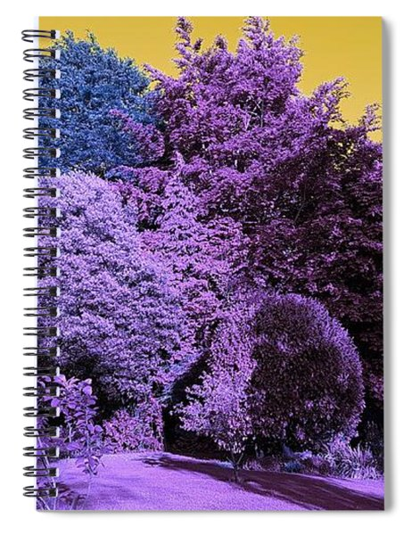 Treescape In Violet Mix Spiral Notebook