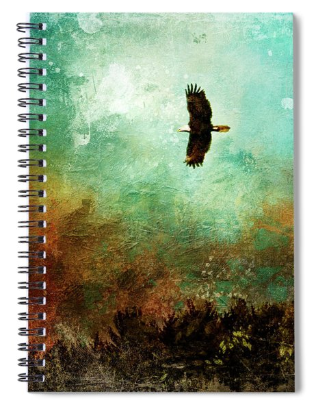 Treetop Eagle Flight Spiral Notebook