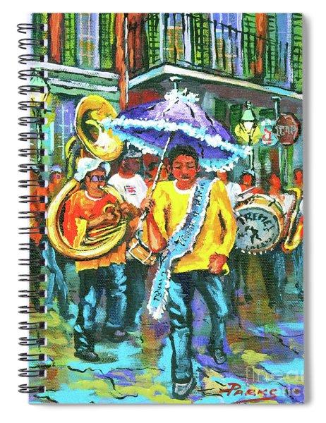 Treme Brass Band Spiral Notebook