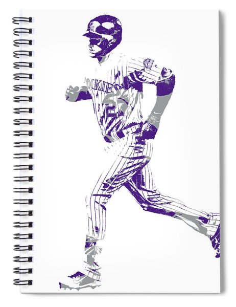 Trevor Story Colorado Rockies Pixel Art 10 Spiral Notebook