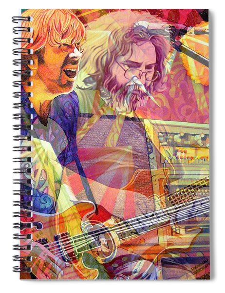 Trey Channeling Cosmic Jerry Spiral Notebook
