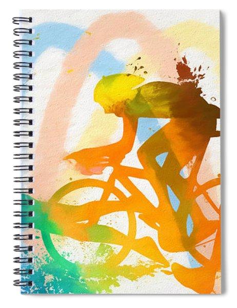 Triathlon Poster Spiral Notebook