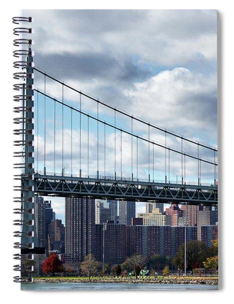 Triboro Bridge In Autumn Spiral Notebook