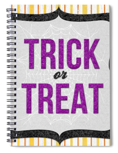 Trick Or Treat- Art By Linda Woods Spiral Notebook