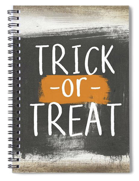 Trick Or Treat Sign- Art By Linda Woods Spiral Notebook