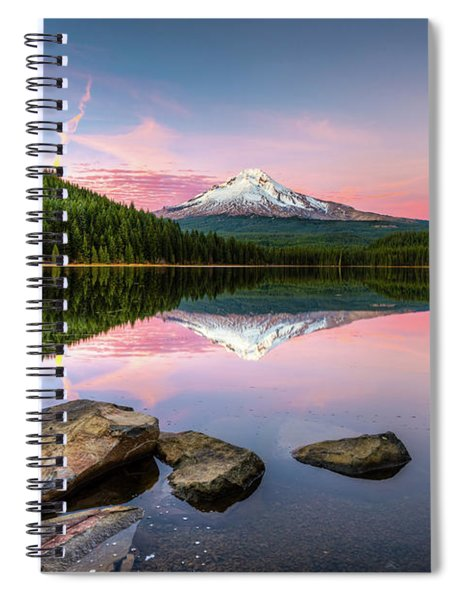 Trillium Lake Reflection Spiral Notebook