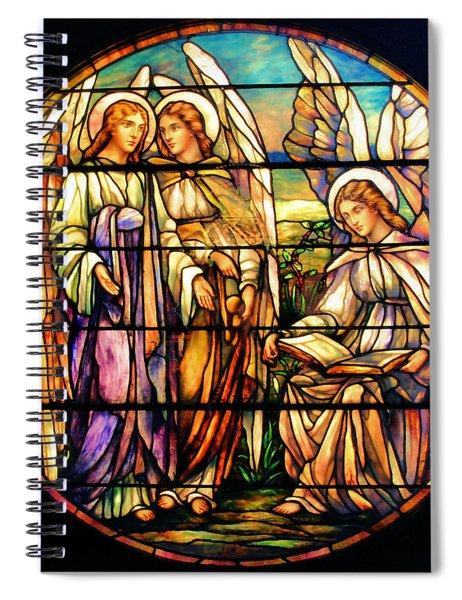 Trio Of Angels Spiral Notebook