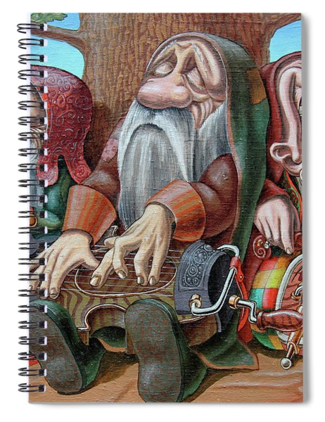Trio Under The Oak Spiral Notebook