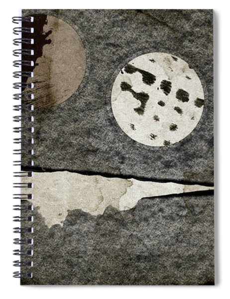 Triple Lunacy Abstract 1 Spiral Notebook