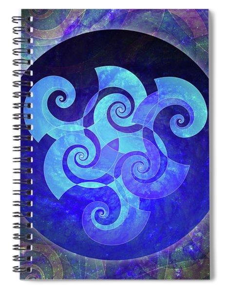 Triskelion Spiral Notebook