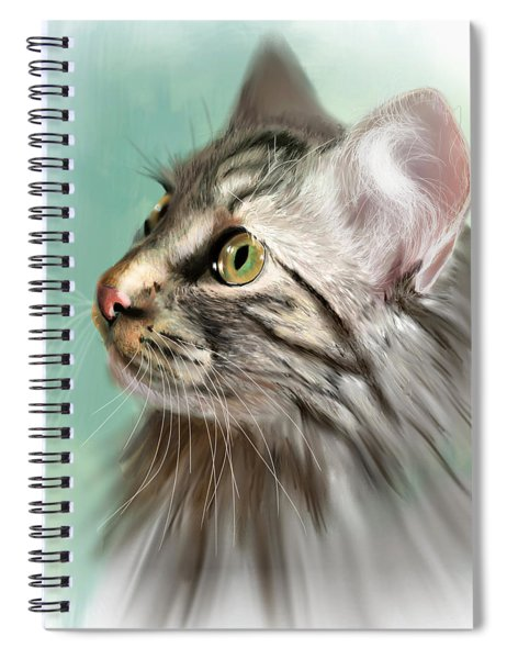 Trixie The Maine Coon Cat Spiral Notebook