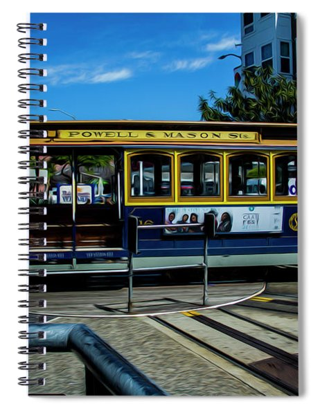 Trolley Car Turn Around Spiral Notebook