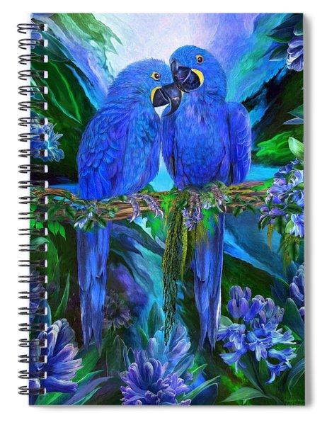 Tropic Spirits - Hyacinth Macaws Spiral Notebook