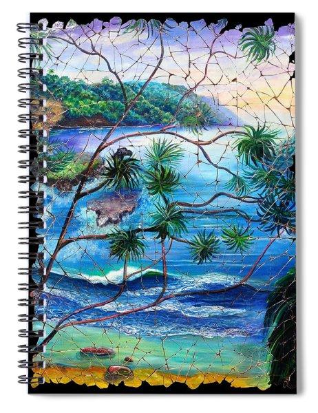 Tropical Cove  Fresco Triptych 2 Spiral Notebook