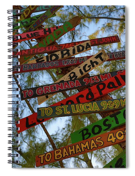 Tropical Directions Spiral Notebook