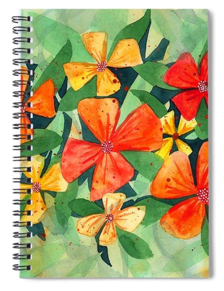 Tropical Flower Splash Spiral Notebook