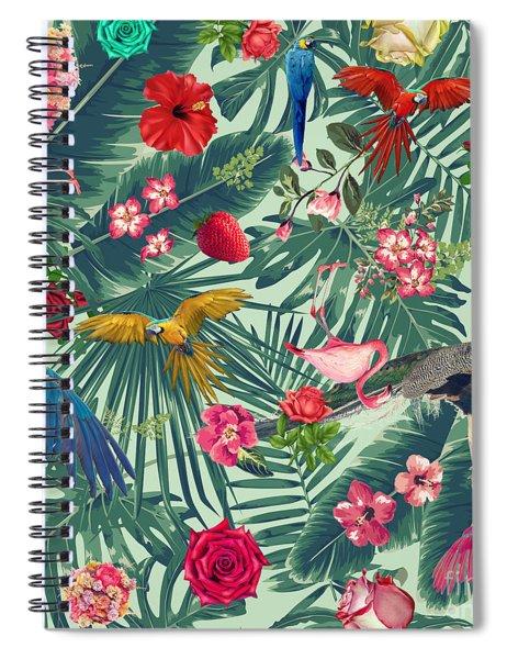 Tropical Fun Time  Spiral Notebook