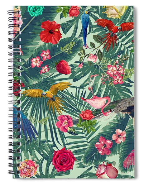 Tropical Fun Time  Spiral Notebook by Mark Ashkenazi