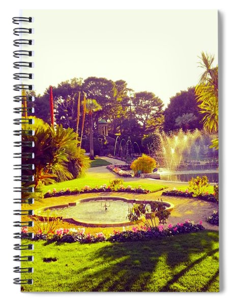 Tropical Garden In Southern France Spiral Notebook
