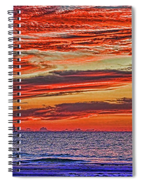 Tropical Gulf Nights Spiral Notebook