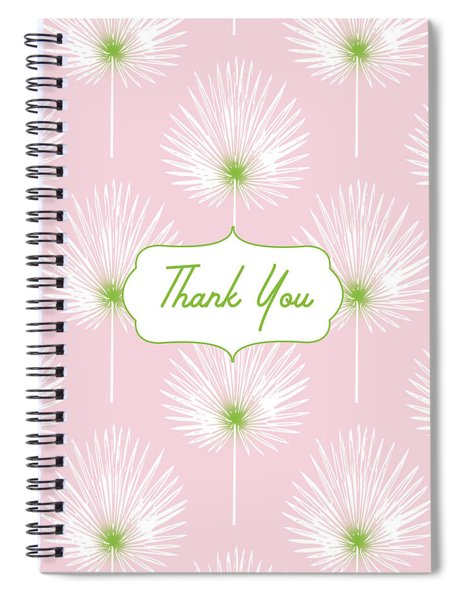 Tropical Leaf Thank You- Art By Linda Woods Spiral Notebook