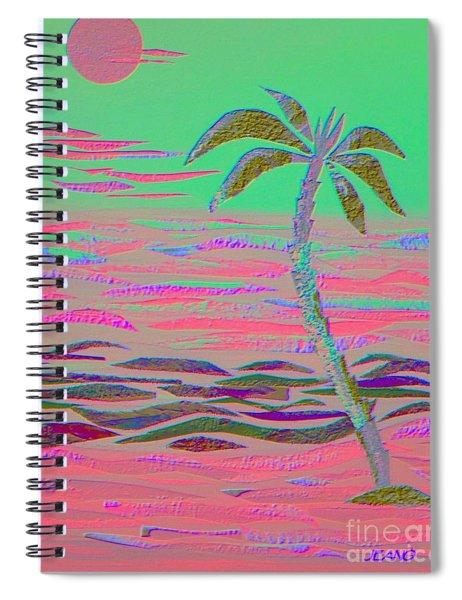 Hot Pink Coconut Palm Spiral Notebook