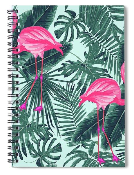 Tropical Pink Flamingo Spiral Notebook