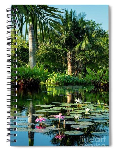 Tropical Pond Spiral Notebook