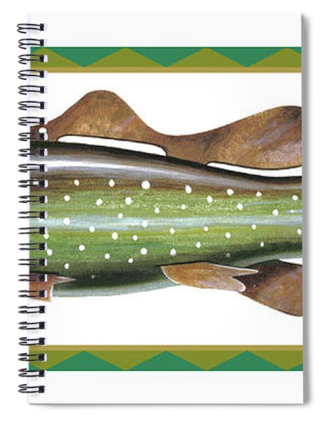 Trout Ice Fishing Decoy Spiral Notebook