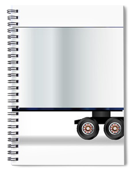 Truck Tractor Unit And Trailer Spiral Notebook